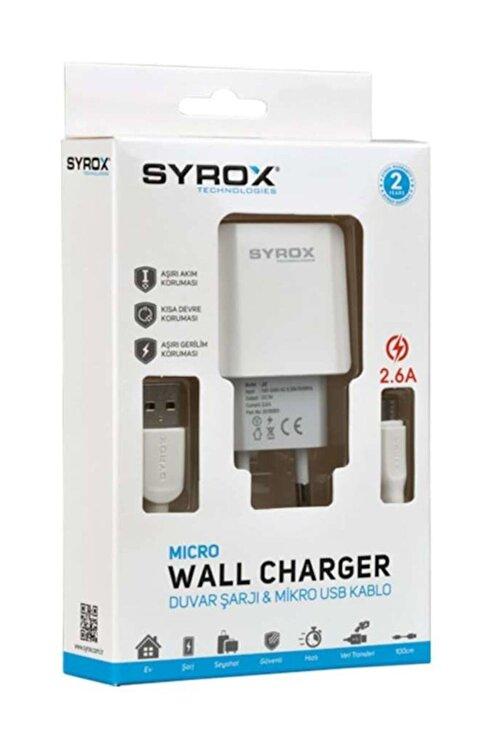 Syrox (Yeni) J47 Micro Usb Girişli 2.6 Amper Hızlı Şarj Aleti 1