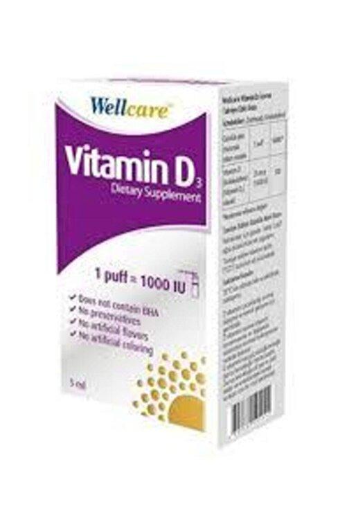 Wellcare Vitamin D3 Sprey 1000 Iu 3'lü 2