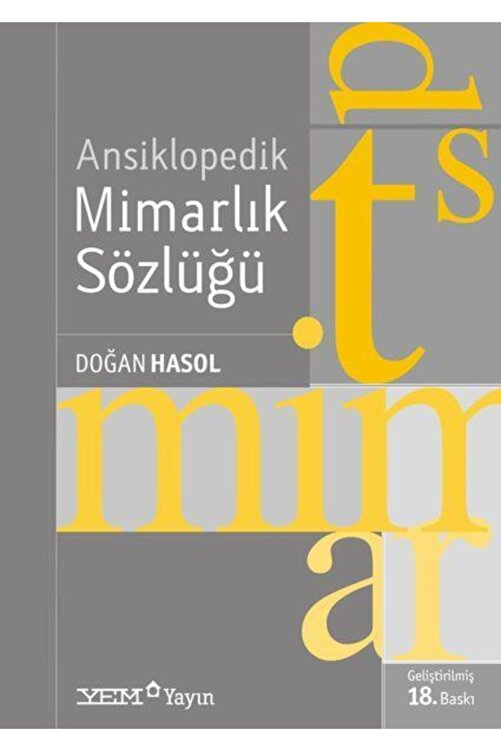 YEM Yayın Ansiklopedik Mimarlık Sözlüğü 1