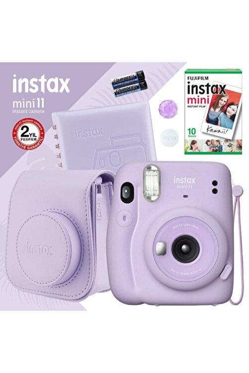 Fujifilm Instax Mini 11 Lila Fotoğraf Makinesi Ve Kare Albümlü Seti 1