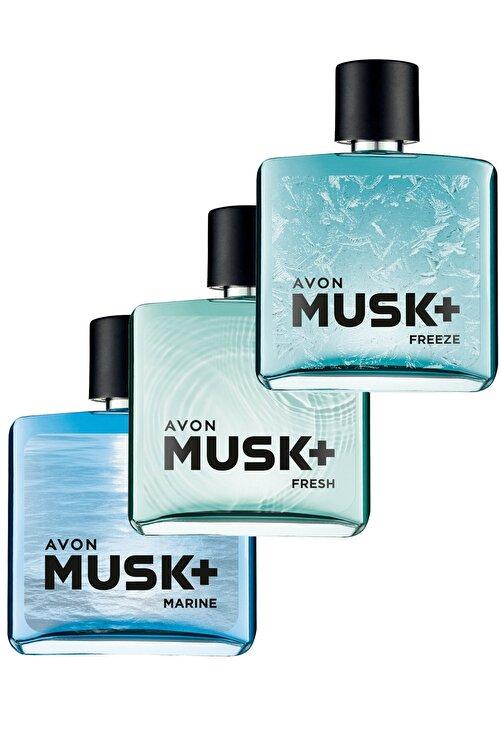 AVON Musk Marine Fresh Ve Freeze Erkek Parfüm Paketi 1