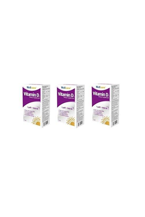 Wellcare Vitamin D3 Sprey 1000 Iu 3'lü 1
