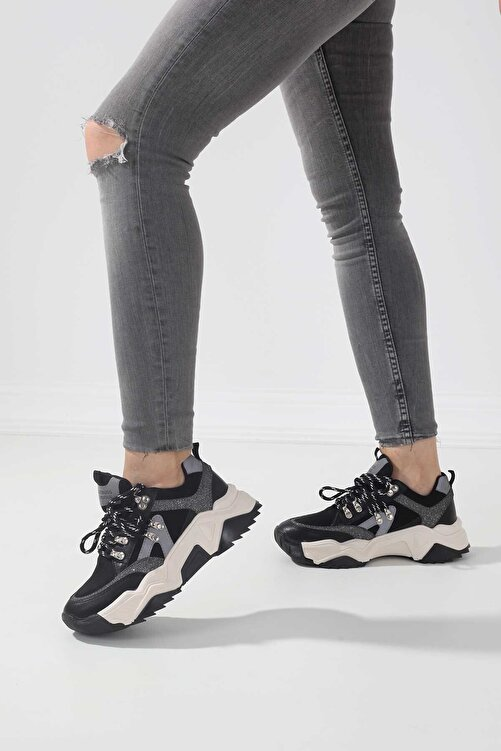 Tinka Bell Shoes 65136-2 Kadın Spor Ayakkabı Siyah Sim 2