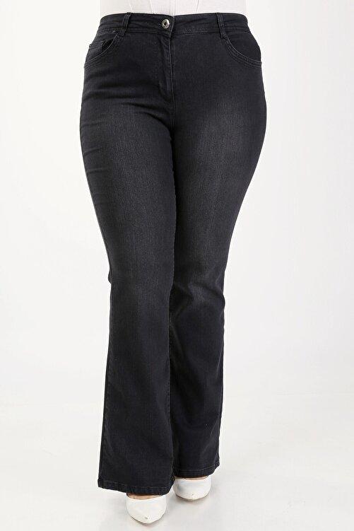 Era Lisa Ispanyol Paça Likralı Büyük Beden Jeans Pantolon. 1