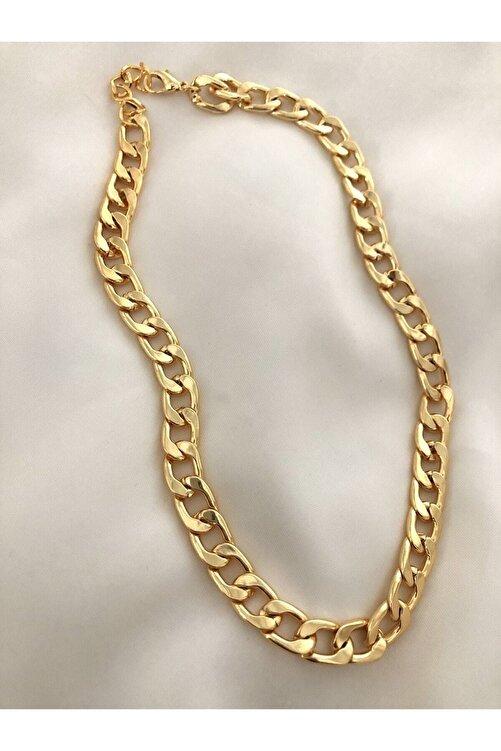 The Y Jewelry Altın Renk Kalın Zincir Kolye 2