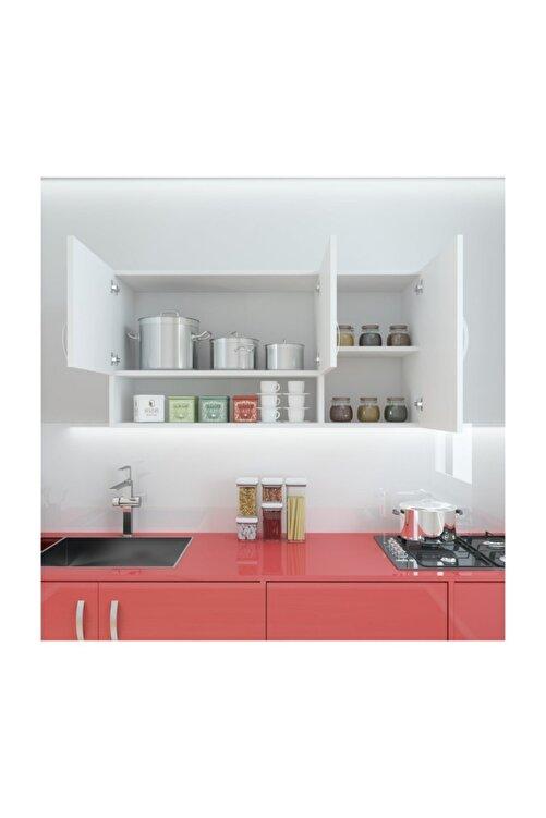 Kenzlife Hazır Mutfak Mirena Byz 060*120*22 Mutfak Banyo Dolabı Kapaklı Raflı 2