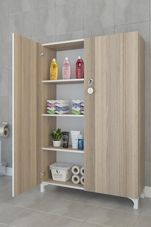 Kenzlife Mutfak Dolabı Çilem 148*070*032 Crd Kilitli Ayaklı Banyo Evrak Ofis Kitaplık Ayakkabılık Kiler 1