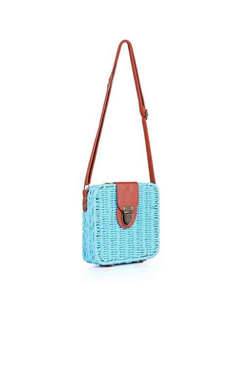 Oblavion Kadın Mavi Hasır  Çanta 1015 2