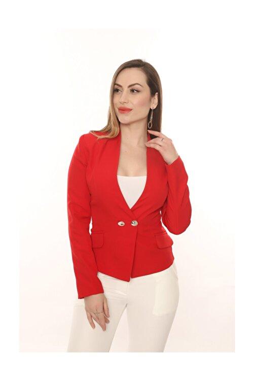 MANGOSTEEN Kadın Çift Düğmeli Klasik Ceket Ofis Ve Günlük Şık. 2