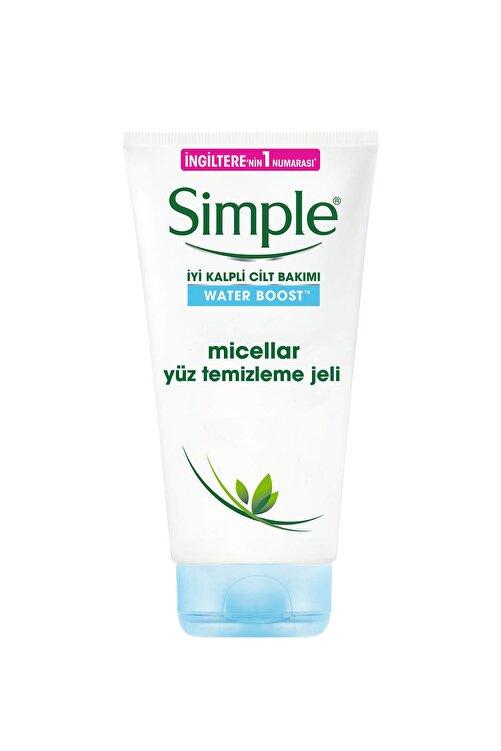 Simple Water Boost Kuru/Nemsiz Ciltler İçin Vitamin E&B5 İçeren Micellar Yüz Temizleme Jeli 150 Ml 1