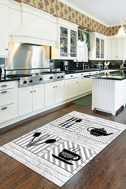 Viva Home Kaymaz Taban Makinede Yıkanabilir Mutfak Halısı 80 x 120 Ar170 1