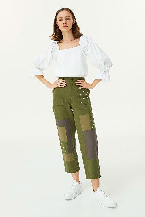 Twist Kadın Beyaz Balon Kol Bluz TW6200050070 2