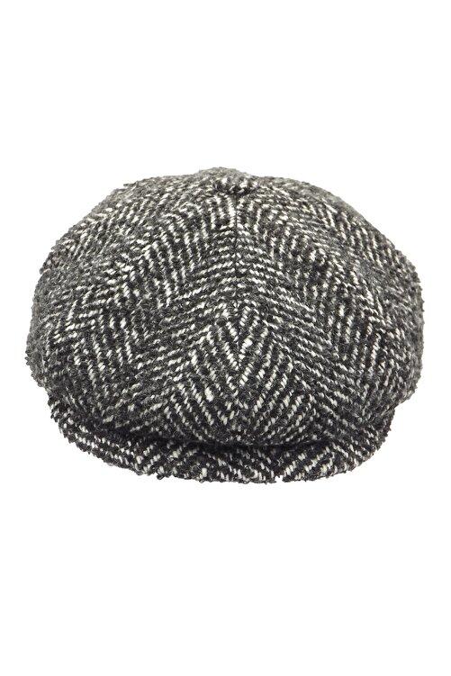 RV Erkek Gri 8 Köşeli Kasket Şapka 2