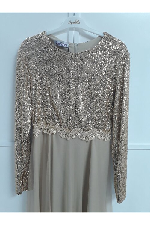 Armoni Kadın Gold Elbise 2