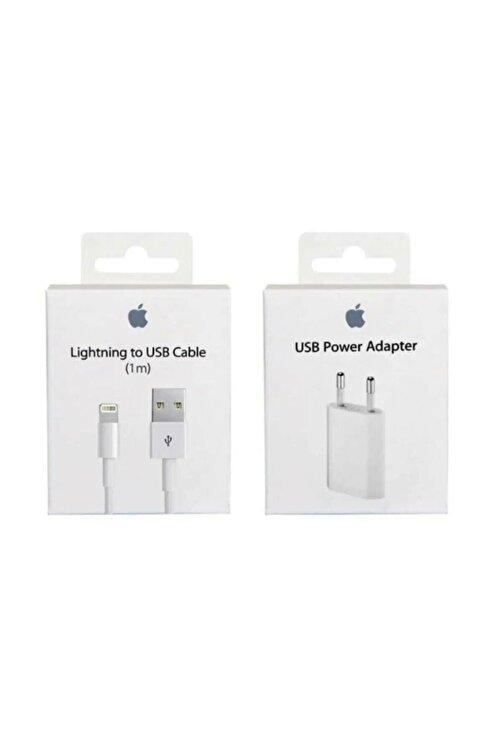 Apple Iphone Şarj Aleti Cihazı + Usb Kablosu  Lightning 1