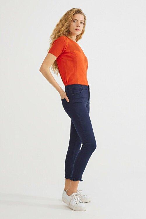 adL Kadın Lacivert Paça Detaylı Pantolon 2