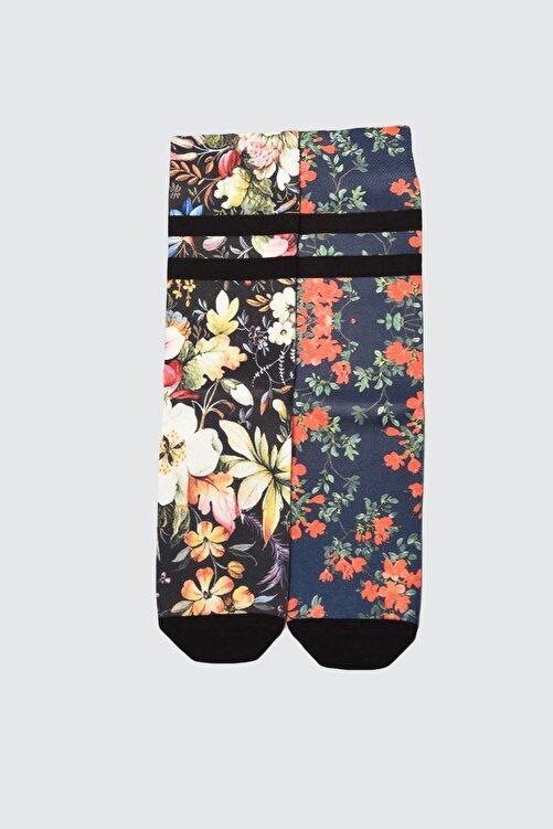 TRENDYOLMİLLA Çok Renkli 2'li Desenli Örme Çorap TWOAW21CO0148 1