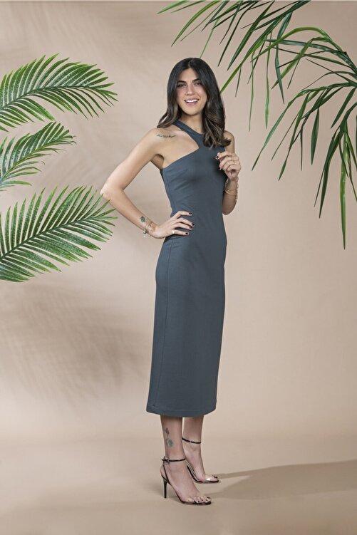 LOVEMETOO Kadın Gri  Star Dress Elbise 18Y39 2