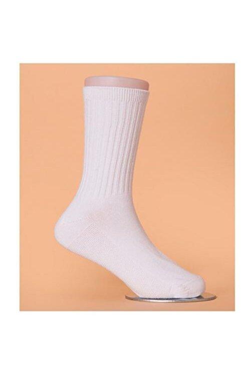 SRS CENTER Unisex Beyaz Koşu Halısaha Antrenman Çorabı 4'lü 2