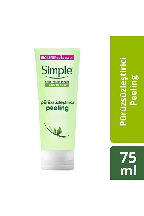 Simple Kind To Skin Hassas Ciltlere Uygun Pürüzsüzleştirici Pirinçli Peeling 75 Ml 1