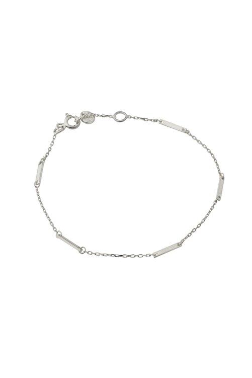 Gimora Kadın İnce Çubuklu Gümüş Bileklik 1