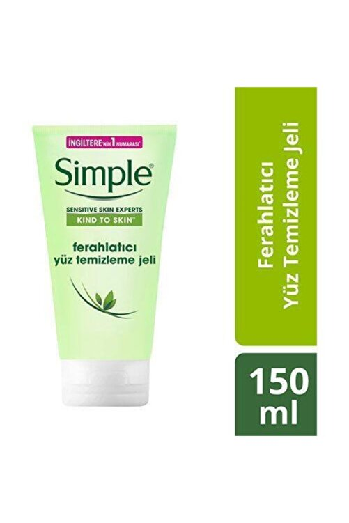 Simple Kind To Skin Hassas Ciltlere Uygun Vitamin E&B5 İçeren Ferahlatıcı Yüz Temizleme Jeli 150 Ml 2