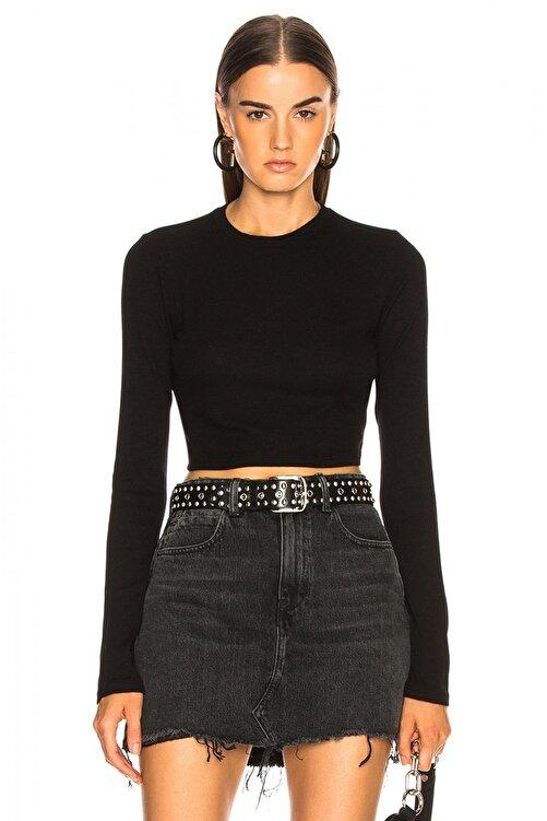 By Umut Design Kadın Siyah Uzun Kollu İpek Jarse Bluz 4500613 1