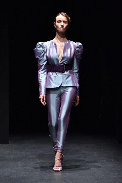 MERT ERKAN Kadın Lila Takım Elbise 1