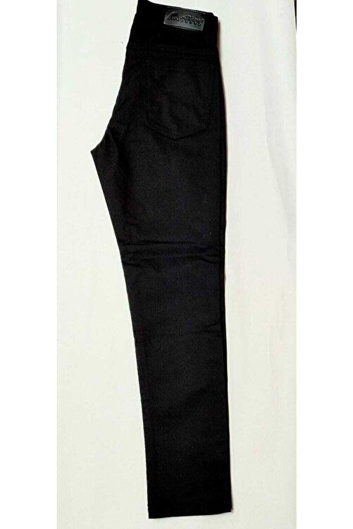 Samyeli Unisex Çocuk Siyah Full Likralı Keten Pantolon 1