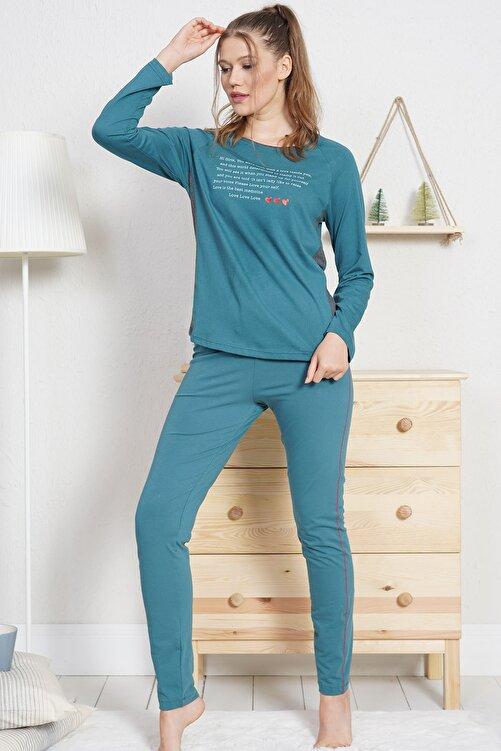 VİENETTA Lycralı Pamuklu Kadın Pijama Takım 2