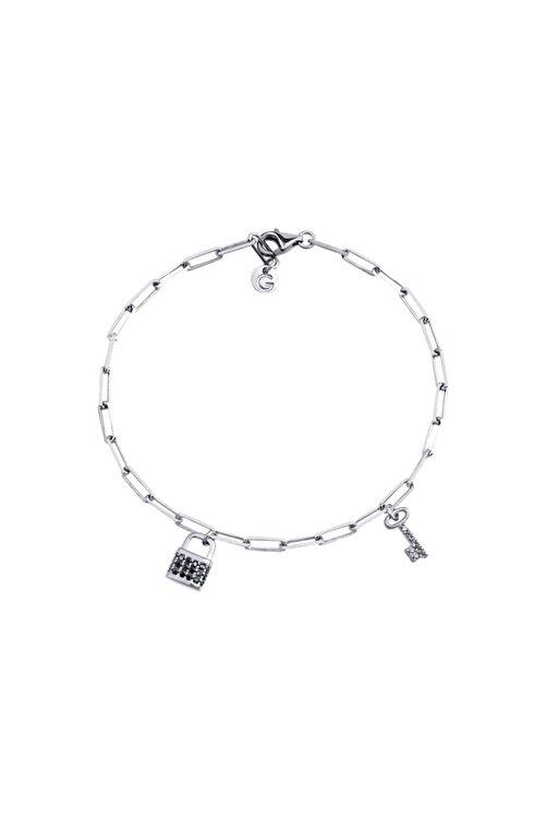 Gimora Madison Kilit & Anahtar Gümüş Bileklik 1