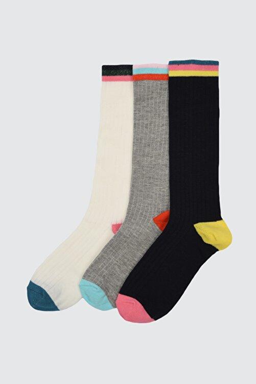 TRENDYOLMİLLA 3'lü Çok Renkli Örme Çorap TWOAW21CO0115 1