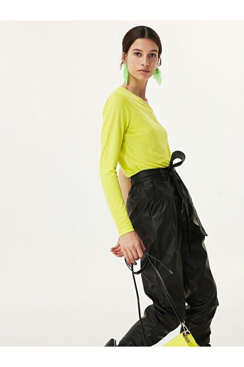 Twist Kadın Yeşil Tek Omuz Bluz 1