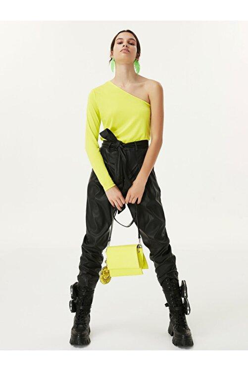 Twist Kadın Yeşil Tek Omuz Bluz 2