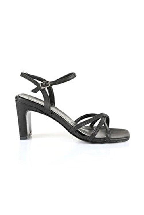 Oblavion Kadın Siyah Topuklu Sandalet 1