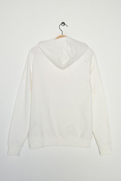 New Balance Kadın Spor Sweatshirt - V-WTH804-WT 2