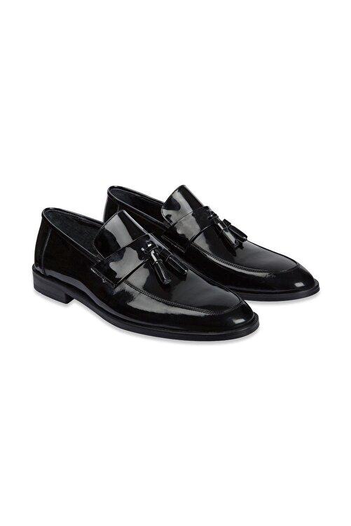 SÜVARİ Erkek Siyah Klasik Loafer Ayakkabı 1