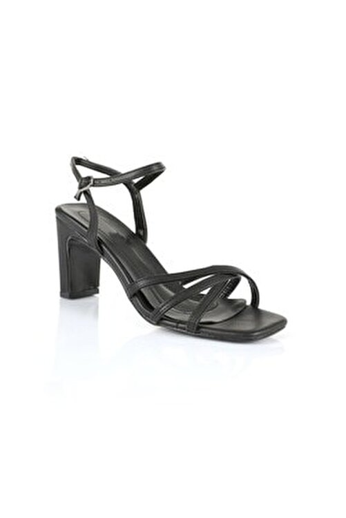 Oblavion Kadın Siyah Topuklu Sandalet 2