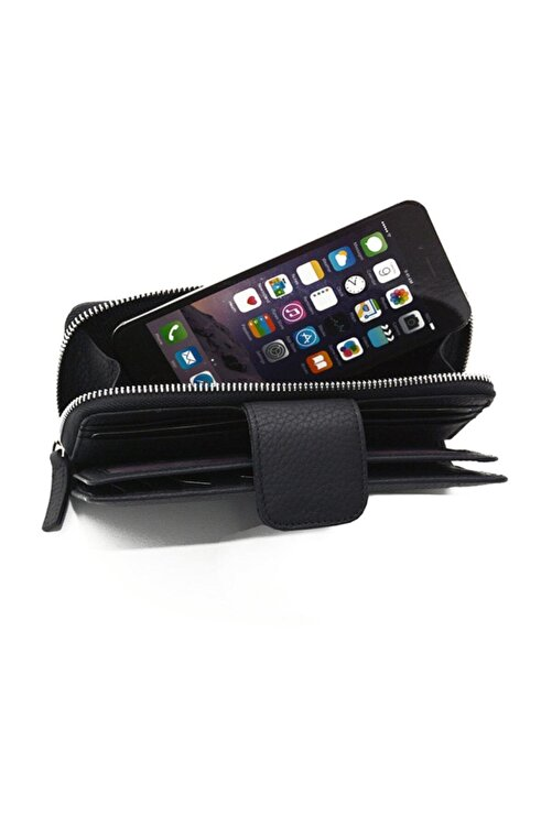 Rich Smith Unisex Siyah Cep Telefon Portföy Kartlık Cüzdan 2422 2