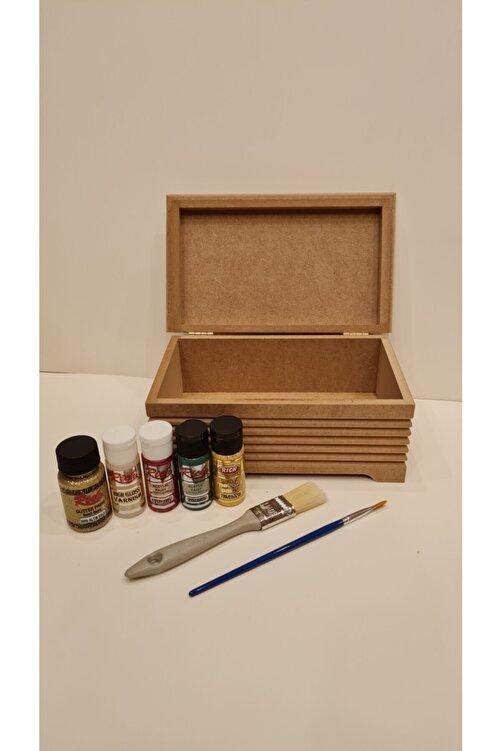 Rich Ahşap Boyama Seti Mdf Kutu Boyanabilir (Karışık Renkler Ve Yumuşak Fırçalar ) 2