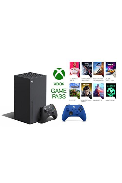 MICROSOFT Xbox Series X 1TB SSD Oyun Konsolu + 1 Kol Mavi + 1 Yıl Live Gold + Gamepass 1