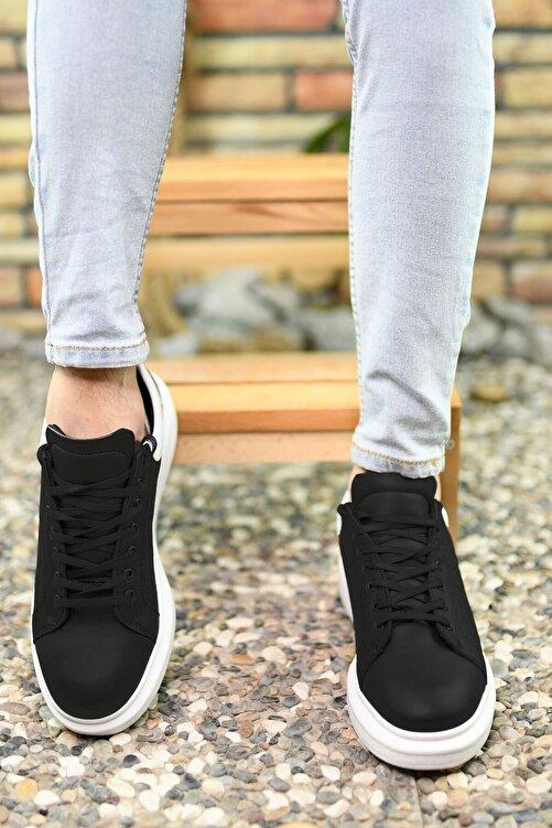 Riccon Erkek Siyah Beyaz Sneaker 2