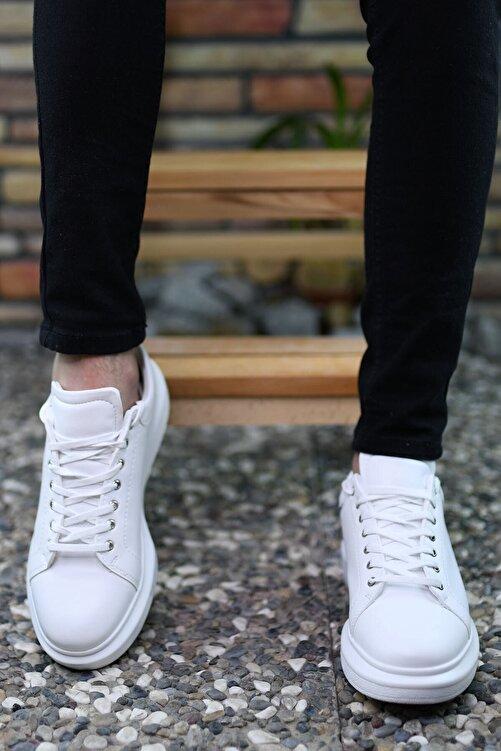 Riccon Beyaz Beyaz Erkek Sneaker 0012360 2