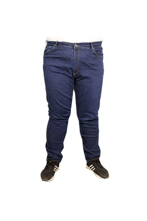 ModeXL Büyük Beden Erkek Pantolon Kot 20900 Lacivert 1