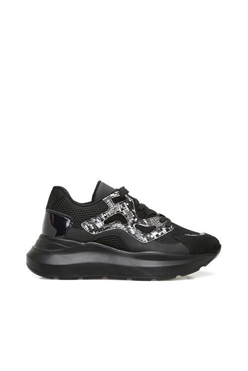 Dıvarese Yılan Baskı Siyah Sneaker 1