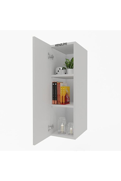 Kenzlife Mutfak Dolabı Irem 060.030.32 Byz 2 Raflı Kapaklı Ofis Banyo Kiler Evrak Kitaplık 1