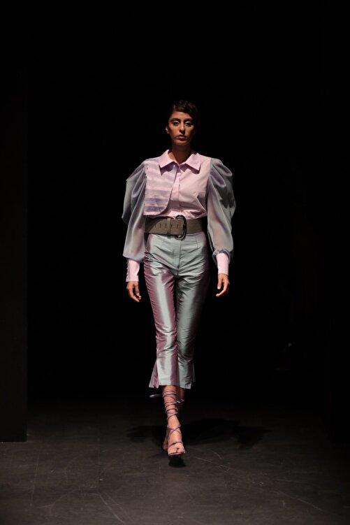 MERT ERKAN Janet Laos Ipeği Tafta Pantolon 1