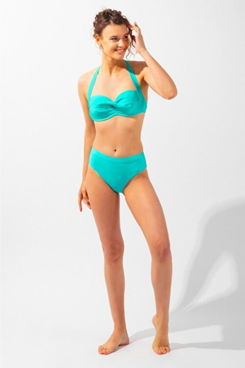 Katia&Bony Teal Tales Düz Ip Askılı Kadın Bikini-yeşil 2