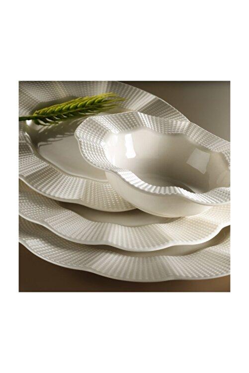 Kütahya Porselen Milena Krem Porselen 24 Parça Yemek Takımı 1