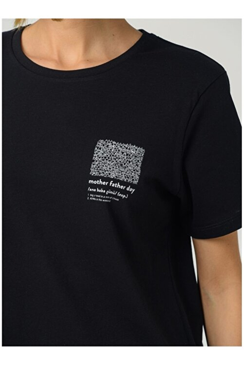 Fabrika Kadın Siyah Tişört 2